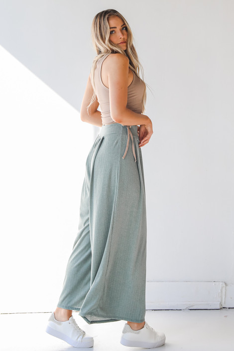 Olive - Ribbed Pants from Dress Up