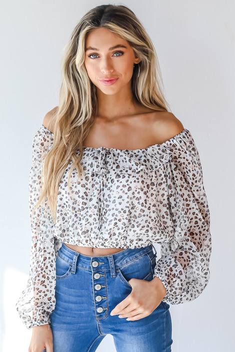 Ivory - Spotted Blouse