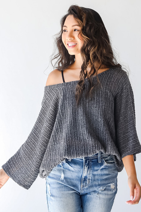 Charcoal - Loose Knit Top from Dress Up