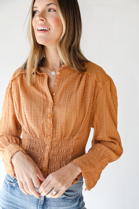 Camel - Blouse from Dress Up