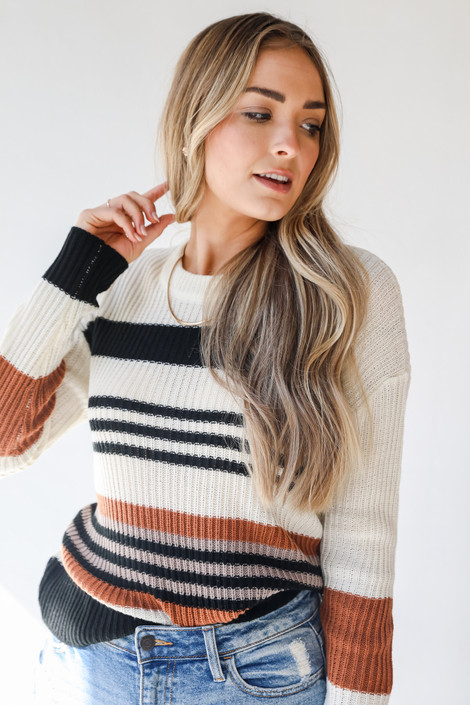 Ivory - Striped Sweater from Dress Up