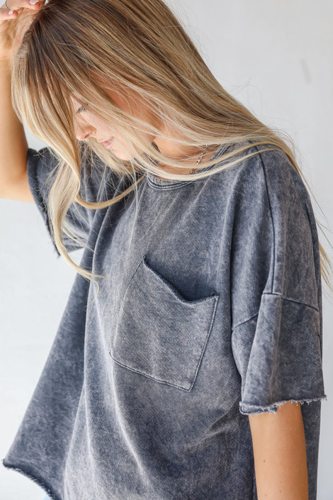Charcoal - Oversized Knit Top from Dress Up