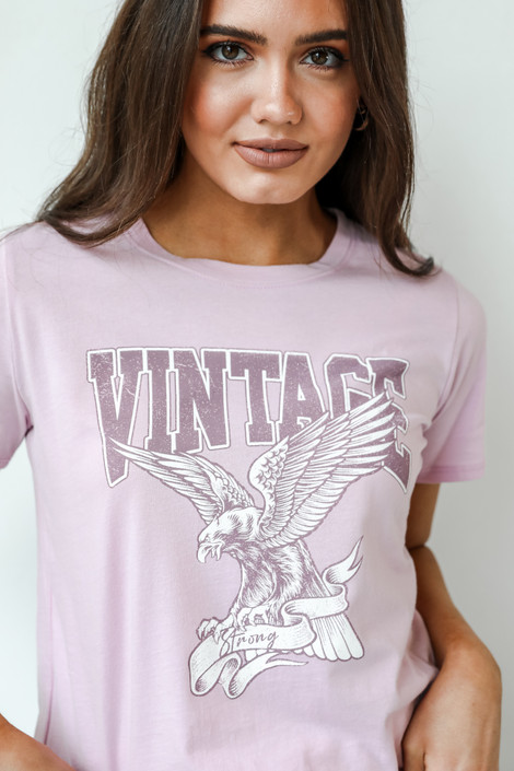 Lilac - Vintage Eagle Graphic Tee from Dress Up