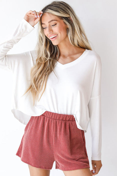 Rust - Corded Shorts from Dress Up