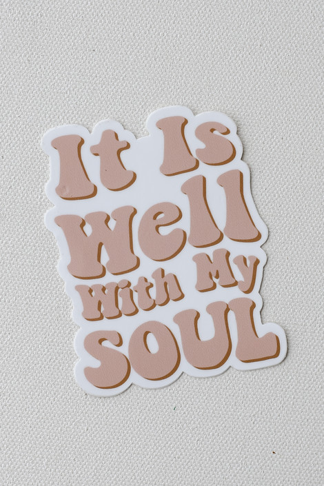Blush - It Is Well With My Soul Sticker