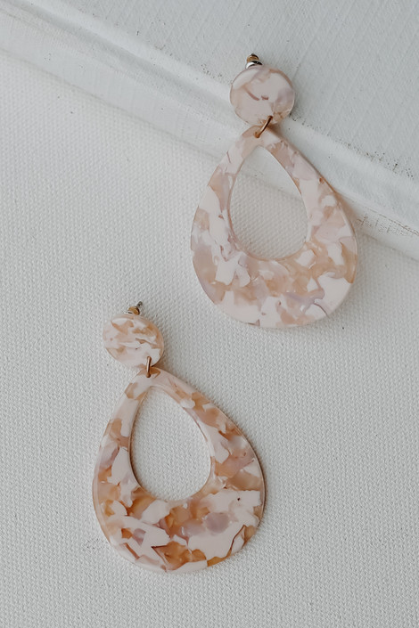 Blush - Acrylic Statement Earrings from Dress Up
