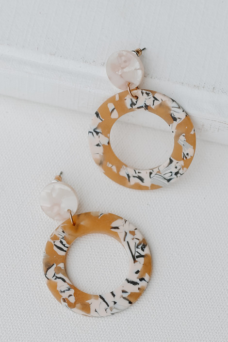 Mustard - Acrylic Statement Earrings from Dress Up
