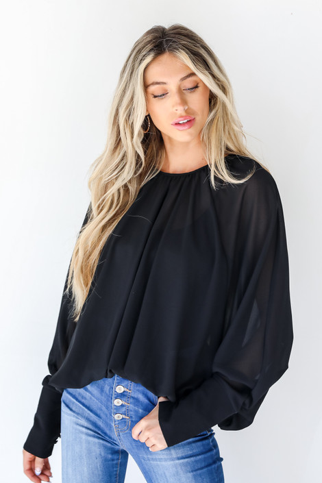 Black - Blouse from Dress Up