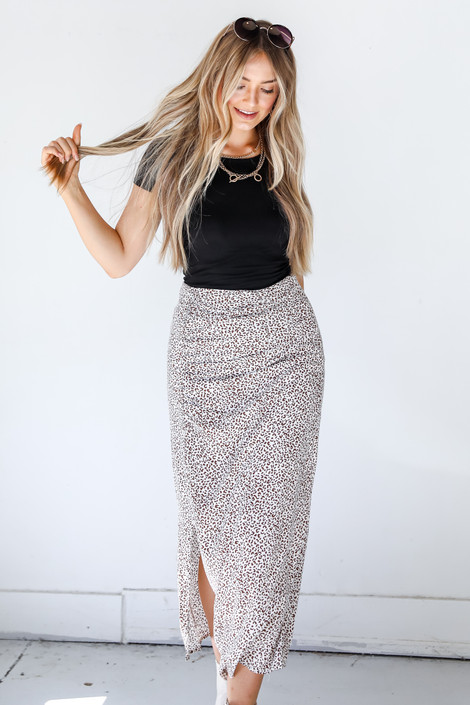 White - Maxi Skirt from Dress Up