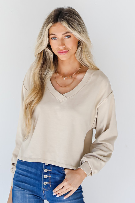 Ivory - Cropped Pullover