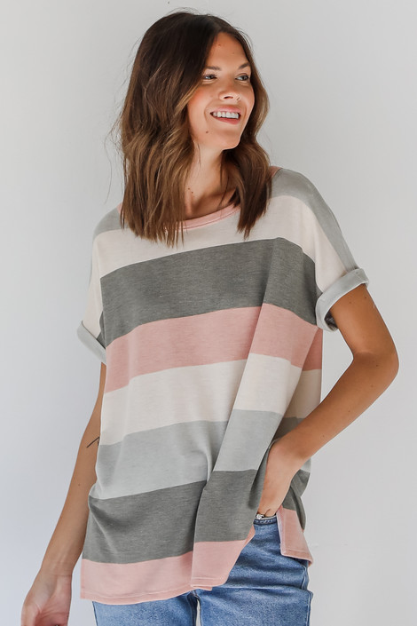Sage - Striped Tee from Dress Up