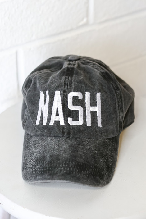 Black - Nash Embroidered Hat from Dress Up