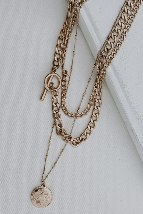 Gold - Layered Chain Necklace from Dress Up