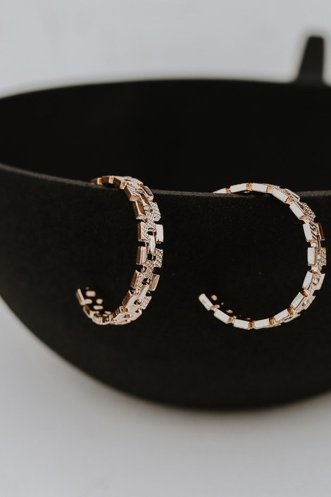 Gold - Chainlink Hoop Earrings from Dress Up