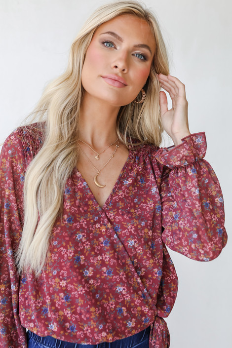 Marsala - Floral Blouse from Dress Up