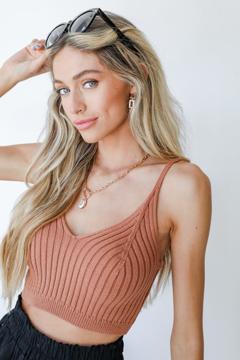 Rust - Cropped Sweater Tank from Dress Up