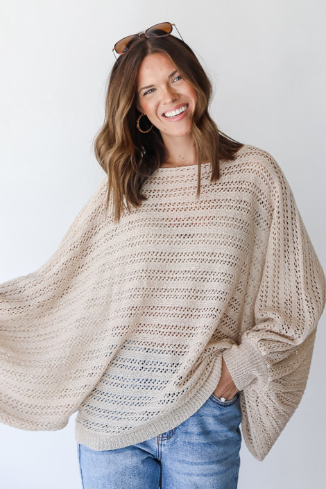 Ivory - Loose Knit Sweater from Dress Up