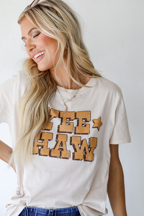 Ivory - Yeehaw Star Graphic Tee from Dress Up