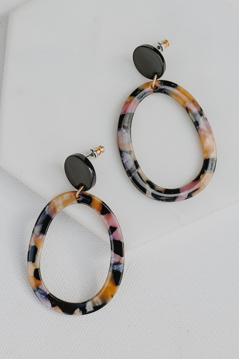 Pink - Acrylic Statement Earrings from Dress Up