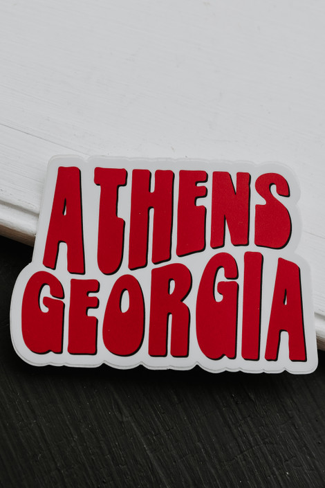 Red - Athens Georgia Sticker from Dress Up