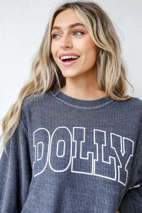 Black - Dolly Corded Pullover from Dress Up