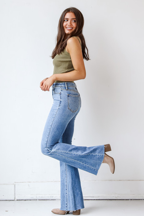 Medium Wash - High-Rise Flare Jeans from Dress Up