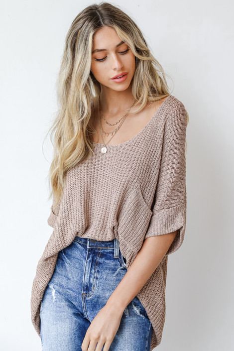 Mocha - Loose Knit Sweater from Dress Up