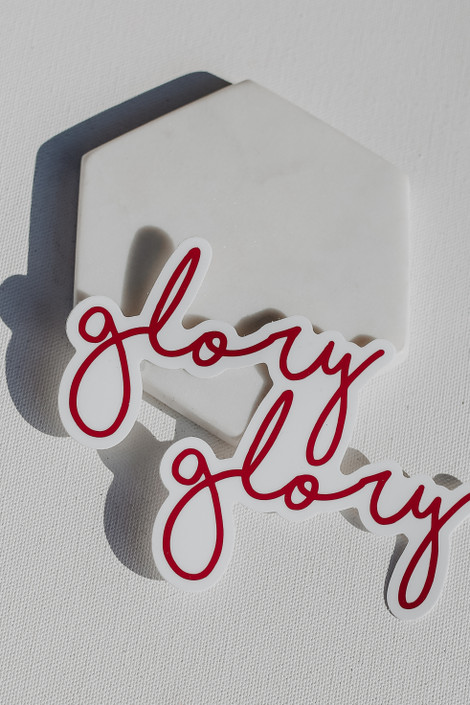 Red - Large Glory Glory Sticker from Dress Up