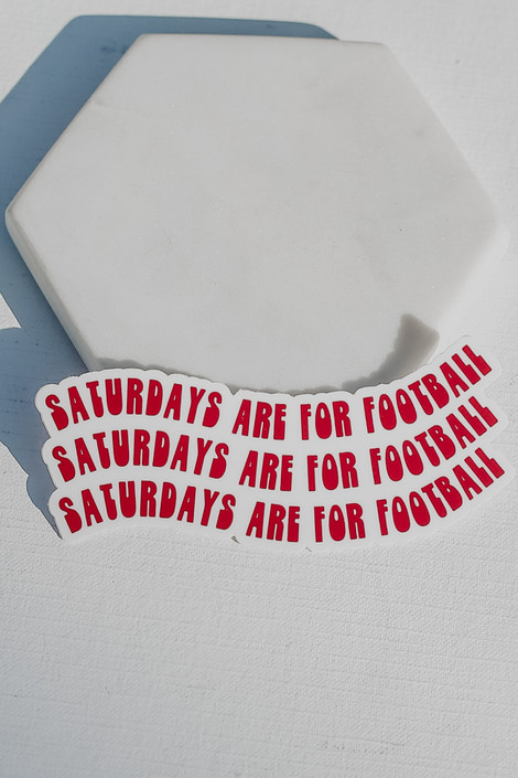 Red - Saturdays Are For Football Sticker