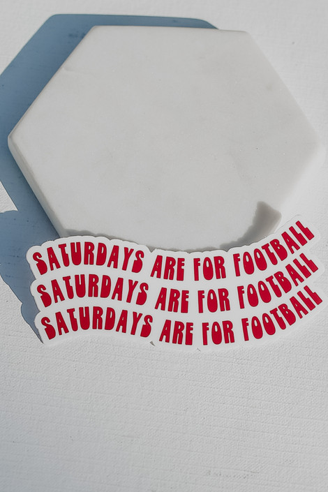Red - Saturdays Are For Football Sticker from Dress Up