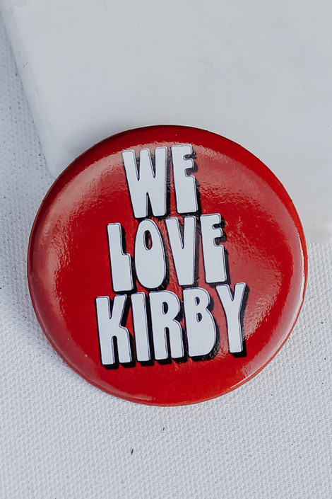Red - We Love Kirby Button from Dress Up
