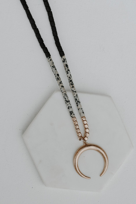 Black - Crescent Horn Necklace from Dress Up
