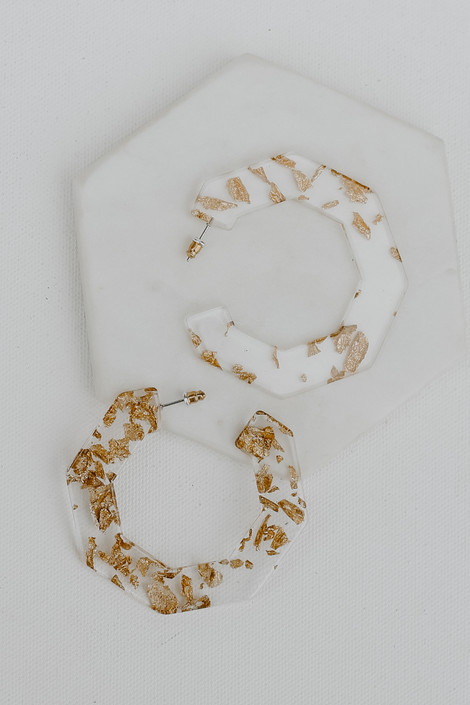 Clear - Statement Hoop Earrings from Dress Up