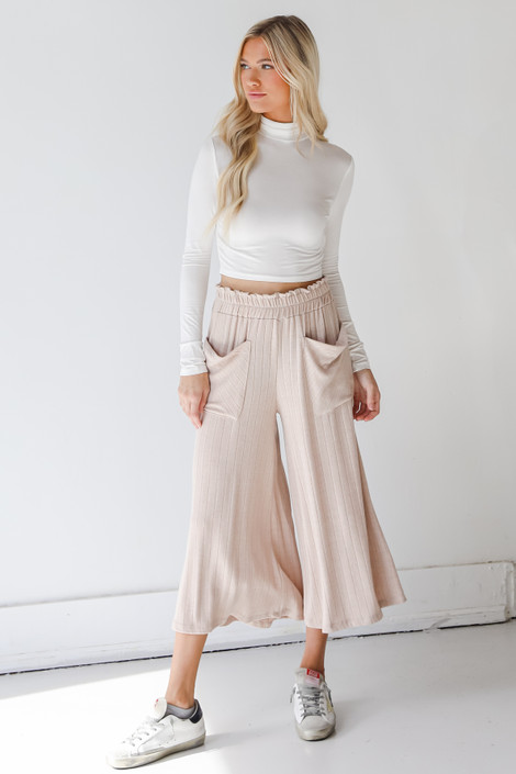 Natural - Culotte Pants from Dress Up