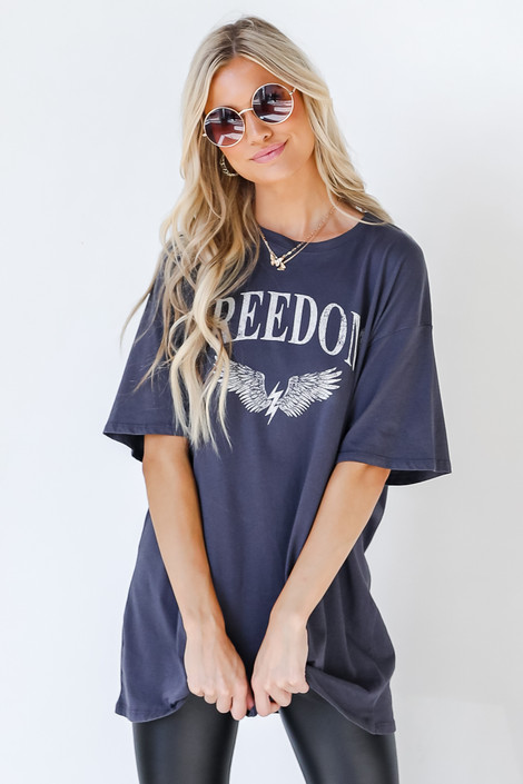 Charcoal - Oversized Graphic Tee from Dress Up