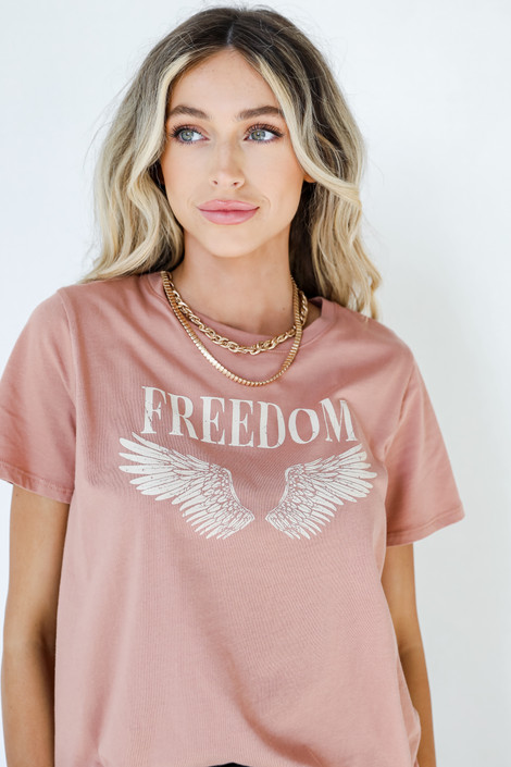 Blush - Freedom Graphic Tee from Dress Up