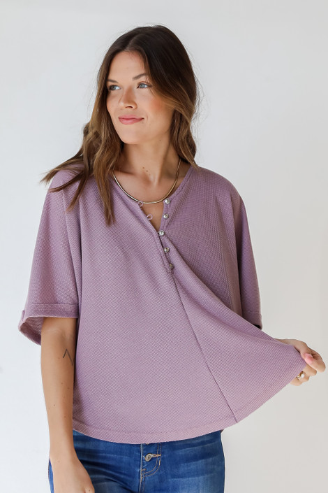 Lavender - Waffle Knit Top from Dress Up