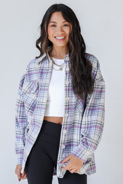 Ivory - Plaid Shacket from Dress Up