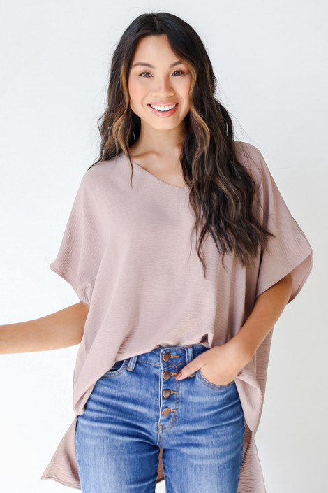 Taupe - Oversized Blouse from Dress Up