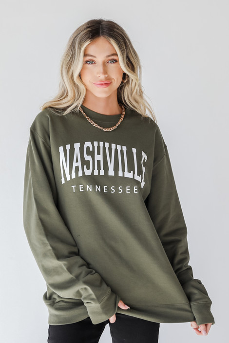 Olive - Nashville Tennessee Pullover from Dress Up