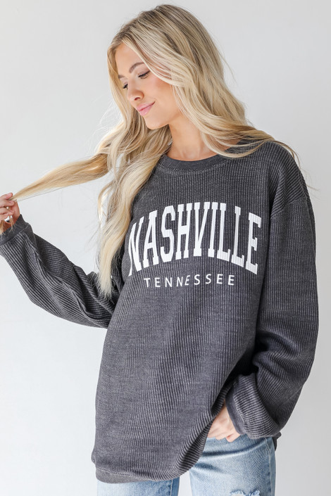 Charcoal - Nashville Corded Pullover from Dress Up