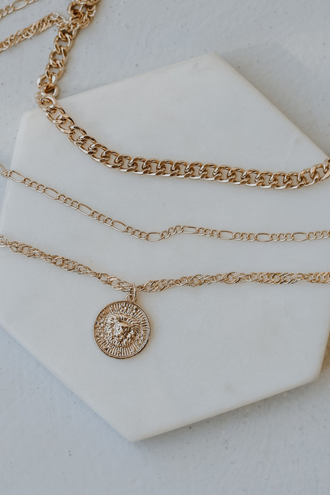 Gold - Layered Coin Necklace from Dress Up