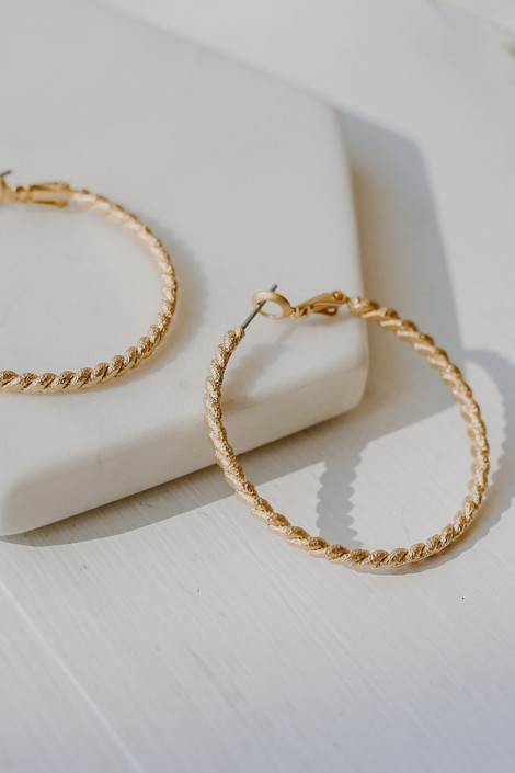 Gold - Twisted Small Hoop Earrings from Dress Up