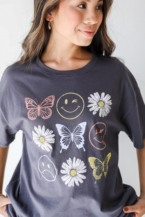 Charcoal - Daisy Dream Graphic Tee from Dress Up