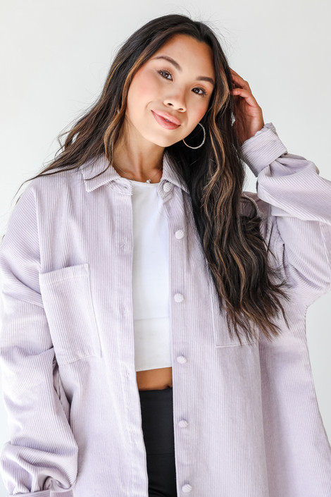 Lilac - Corduroy Shacket from Dress Up