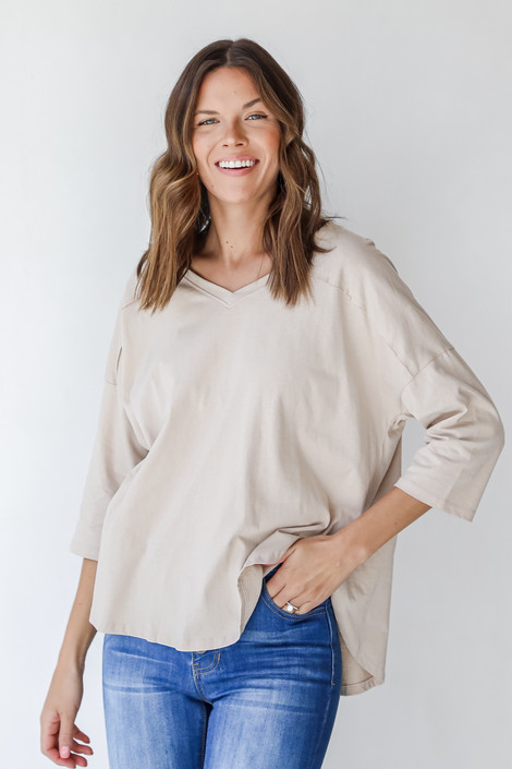 Taupe - Everyday Tee