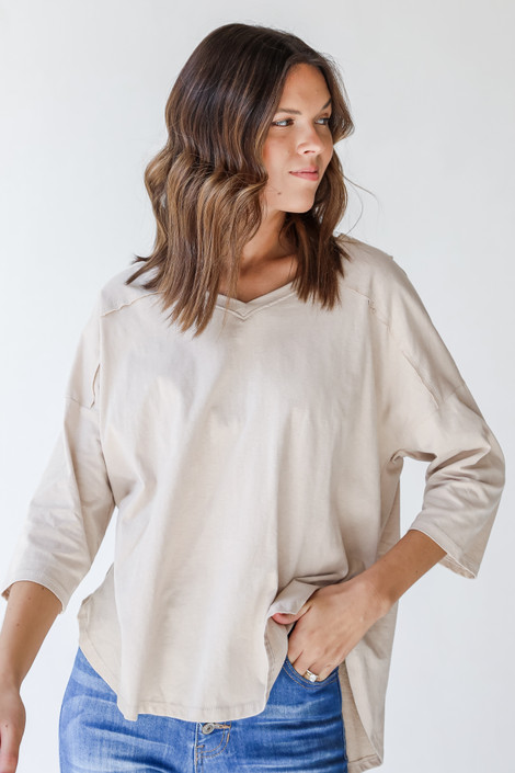Taupe - Everyday Tee from Dress Up