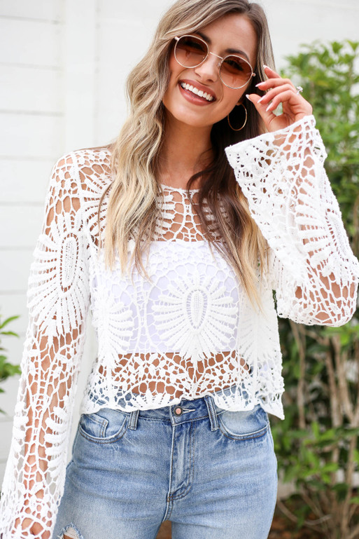White - Crochet Top