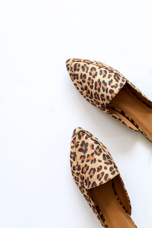 Leopard - Slip On Loafers Flat Lay