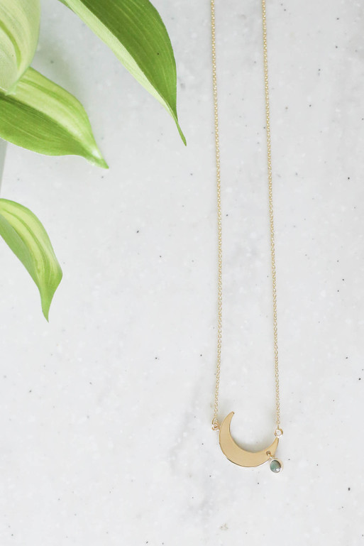 Gold - Crescent Moon Necklace